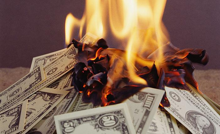 desperdiciando el dinero
