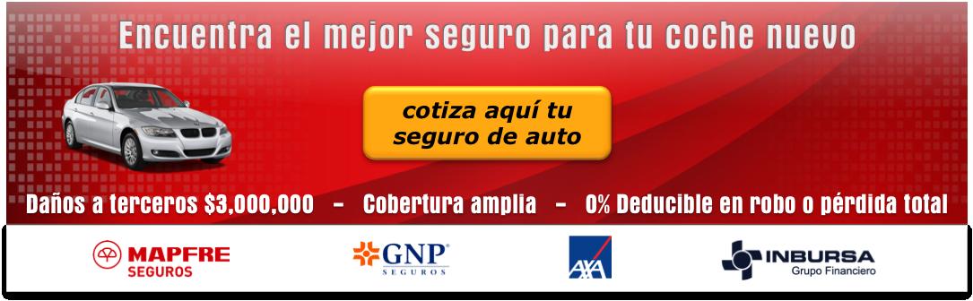 seguro de auto nuevo